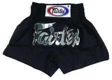 NEW Fairtex Muay Thai Shorts - Camo Black Nylon  BS0609 Camouflage boxing shorts