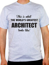 WORLDS GREATEST ARCHITECT - Buildings / Structure / Novelty Themed Mens T-Shirt