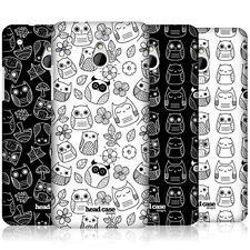 HEAD CASE DESIGNS DOODLE OWL PROTECTIVE SNAP-ON BACK CASE COVER FOR HTC ONE MINI