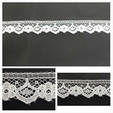"10 / 50 yards white narrow scalloped edge lace trim 9/16""W. L6-5 SHIP FROM USA"