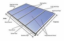 Lean-to Conservatory Roof Kit DIY, 3m Projection - Self Supported