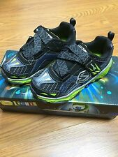 New Boys/Youth Skechers Shoes S-lights galvanized Light-Up Lights BNVL