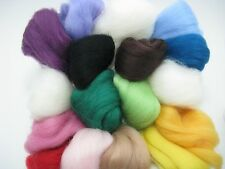 Merino Wool Roving Fiber Needle Felting Wool Hand Spinning DIY Felting Craft KC2