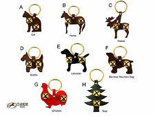 Tahoe Tack Fancy Leather Animal Shaped Novelty 2 Sleigh Bell Door Hangers Select