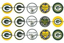 """#26 Green Bay Packers 1"""" INCH PRE CUT BOTTLE CAP IMAGES SCRAPBOOKING PROJECTS"""