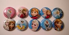 "Set of 10 Frozen 1"" Button Flatbacks, Pinbacks or Hollowbacks"