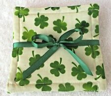 COASTER SET~St Patricks Day~Handcrafted~Quilted~Lined~Designs Vary~NEW~FREE SHIP
