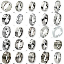 Tailor Made Titanium Wedding Band Ring Various Styles Option Size 3-18
