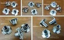 4x T-NUTS 4mm OR 5mm OR 6mm OR 8mm OR 10mm T-NUT FIXING, Tee Nut M4,M5,M6,M8,M10