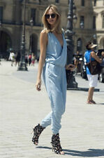 NEW ZARA 2013 LIGHT BLUE DENIM FADED BLEACHED JUMPSUIT SOLD OUT RARE