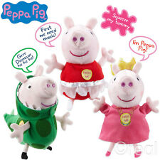 New Peppa Pig Princess & Ballerina Peppa & Dinosaur George Pig Talking Plush Toy