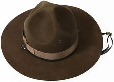 Trooper Brown Drill Sergeant Wool Felt Campaign Hat 63/4 to 73/4  BY ROTHCO