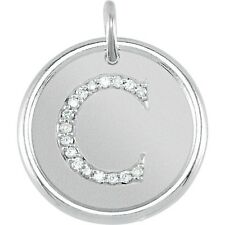 Posh Mommy Jewelry Initial C Roxy Pendant with Diamonds, Silver or 14K Gold