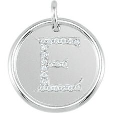 Posh Mommy Jewelry Initial E Roxy Pendant with Diamonds, Silver or 14K Gold