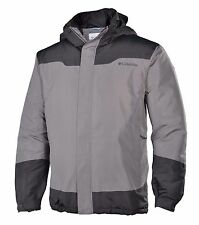 Columbia Path to Anywhere Jacket Mens L Large Light Grey with Dark Grey New NWT