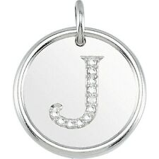 Posh Mommy Jewelry Initial J Roxy Pendant with Diamonds, Silver or 14K Gold