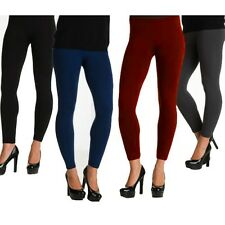 4 Pack: Ladies Fleece Lined Leggings- in Assorted Colors