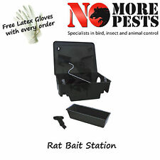 Rat Bait Stations Secure & Safe with Rat Bait and Free Gloves - Poison / Killer