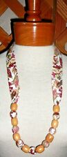 FABRIC & BEAD NECKLACES~Halloween~Autumn~Thanksgiving~Designs Vary~NEW~FREE SHIP