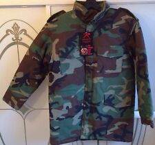 New Rothco kids coat field jacket m-65 style woodland camo liner cold weather