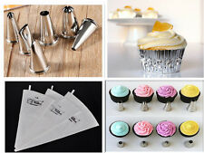 Icing Piping Nozzles & Reusable Cotton Pipng Bag Cake Crafts DIY Decoration Tool