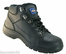Pro Man PM4000A S3 Black Steel Toe Cap Hiker Safety Boots Work Boot Footwear PPE