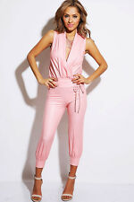 Womens Jumpsuit All Purpose Jumper Romper Faux Leather Sexy Pants
