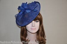 NEW Kentucky Derby Church Easter Ascot Sinamay Dress Hat/Fascinator, 10 colors