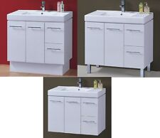 900 MM CERAMIC BATHROOM  VANITY/ SINK - THICK TOP, WITH ROUND HANDLES