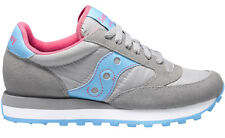 SAUCONY JAZZ ORIGINAL Grey Bright Blue 1044 292  Classic Nylon Running WOMEN