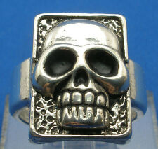 Old Phantom Skull Ring, Hand Crafted Sterling Silver Reproduction