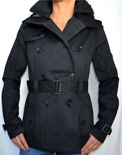 SUPERDRY Women's - Cropped SUPER - Hooded Raincoat - NEW - Black