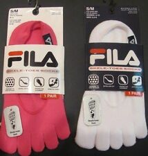 NWT FILA TOES-SOCKS - EXTRA low-cut WhitePink SM Shoe sz Women 5-10, Men 6.5-8