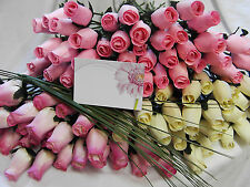 FREE MOTHERS DAY GIFT CARD 4 MUM  IVORY BABY PINK WOODEN ROSES GRASSES WHOLESALE