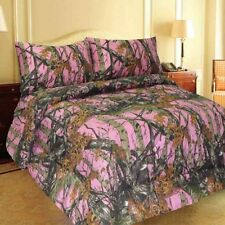 Woods Pink Camo Comforter & 6 Pc Sheet Set, 4 Sizes, Bed in Bag, Free Shipping