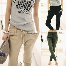 Women Sweatpant Slack Trousers Pants Harem Feet Stretch Pencil 3 colors Slim