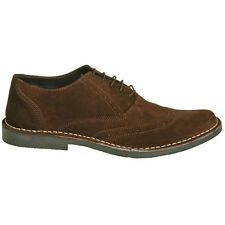 New Mens Brown Casual Suede Leather Desert Brogue Shoes UK Size 6 7 8 9 10 11 12