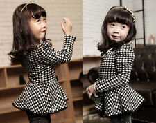 Baby Girls Princess Coat  Clothing Kids Long Sleeve Dress Skirt Flared Clothes