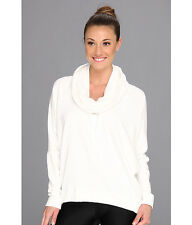 IR 84$ Pink Lotus Cocoon Pullover Off White Sweatshirt Shirt Tail SMALL