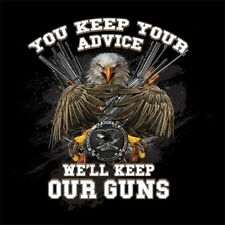 """New NRA Shirt YOU KEEP YOUR ADVICE I""""LL KEEP MY GUNS - OFFICIALLY LICENSED NRA"""