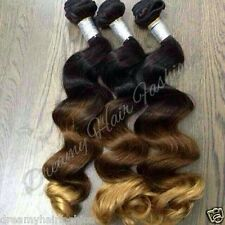 100% Remy Brazilian Ombre Hair Extensions 100 Grams per Bundle Bodywave