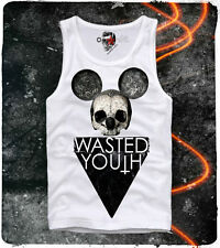 E1SYNDICATE TANK TOP T SHIRT WASTED YOUTH HIPSTER PARIS DOPE BOY ELEVEN S/M/L/XL