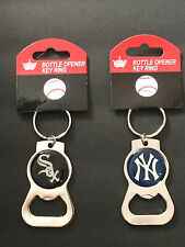 MLB Bottle Opener Key Ring Fob Tag Keychain Chicago White Sox  New York Yankees