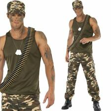 Army Solder Costume - Men's Sexy Armed Service Uniform Fancy Dress Outfit