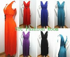 Fashion Deep V Evening/Bridesmaid Summer Dress Sleeveless MAXI Sundress