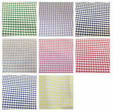 "Corded Gingham Fabric 1/8"" (3mm) Check Dress Material  -44"" (112cm) wide"