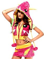 Monster Pink Yellow Green Outfit fluffies kandi club costume raver rave fur