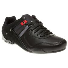 New Mens Diesel Black Korbin II Leather Trainers Lace Up