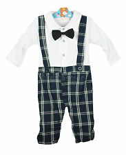 Baby Boy Tuxedo Gentleman Bow Romper Outfit Suit Wedding Birthday Party 6-24m
