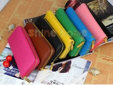 New Fashion Womens PU Leather Long Elegant Handbag Wallet Clutch Card Coin Purse